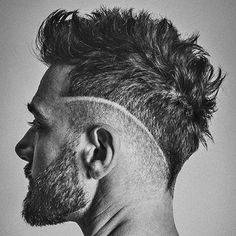 Barbershop Haircuts - Low Taper Fade and Part with Quiff