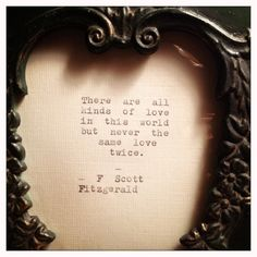 F Scott Fitzgerald Framed Love Quote