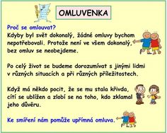 SLOH OMLUVENKA School Hacks, Classroom Management, Grammar, Behavior, Children, Kids, Homeschool, Language, Study