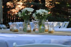 Real Shower :: Backyard Baby-Q Bash :: Table Centerpiece