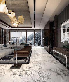 La imagen puede contener: tabla e interior Luxury Interior Design, Interior Design Living Room, Interior Modern, Luxury Penthouse, Dream House Interior, Modern House Design, Luxury Living, Cozy House, Modern Decor