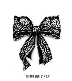 Lace Bows Romantic 2 Temporary Tattoos by TattoolioDesigns