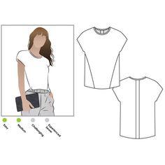 Besharl Knit Tee Style Arc Sewing Pattern 026. T Shirt Sewing Pattern, Top Pattern, Sewing Patterns, Dressmaking Fabric, Tee Shirts, Tees, Haberdashery, Fashion Branding, Knitting