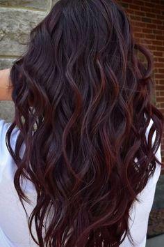Hair Color Dark, Hair Color For Black Hair, Dark Hair, Purple Hair, Mom Hairstyles, Haircuts For Long Hair, Fall Hair Color For Brunettes, Dark Fall Hair Colors, Hair Ideas For Brunettes