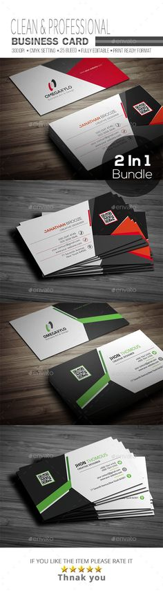 Business Card Template PSD Bundle ( 2 In 1 )