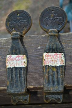 Antique Coca Cola Cast Iron Door Pulls