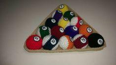 Billiard balls & rack handmade one of a by AmisPurlsBeforeSwine