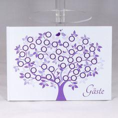"""Hochzeitsgästebuch - Lolima Gästebuch """"Hochzeitsbaum"""" zur Hochzeit - ein Designerstück von Lolima-Shop bei DaWanda"""