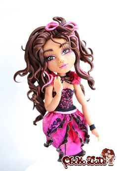 Briar Beauty Ever After High Carved Cake With A Modeling Chocolate Figurine