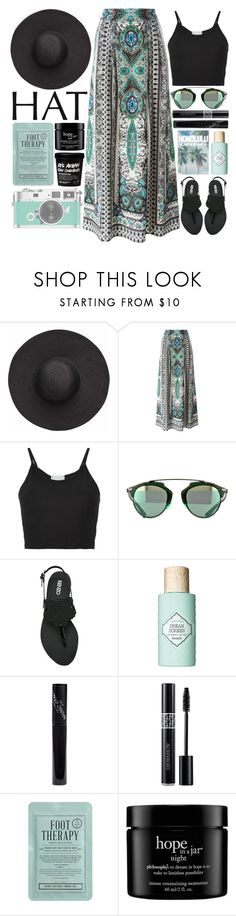 """Summer Hat / 121"" by dddawn ❤ liked on Polyvore featuring Witchery, Etro, Lost & Found, Kenzo, Benefit, Manic Panic NYC, Christian Dior, Kocostar and philosophy"