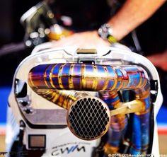 Honda RCV exhaust. Crutchlow's bike.