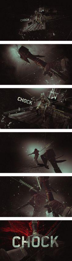 motion graphics - title design - Chock - Ilya V. Abulkhanov #styleframes #storyboards