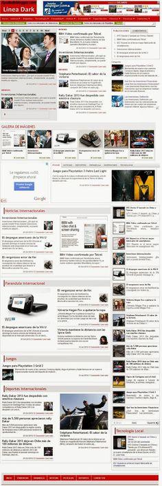 Tutorial Plantilla para blogger Línea Dark « Widgets y Plugins para Blogger