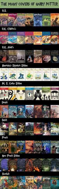 Harry Potter Books from Different Countries