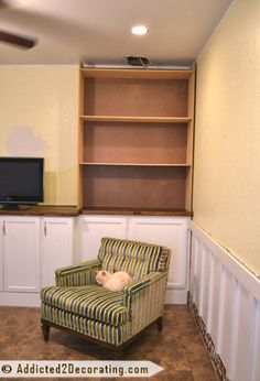 Addicted 2 Decorating » My DIY Built-In Bookcase Wall Is Finished!! (Before & After)