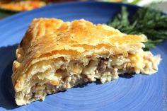 Пирог с мясом и сыром / Рецепты с фото