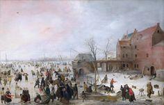 A Scene on the Ice near a Town - Lijst van Nederlandse kunstschilders - Wikipedia