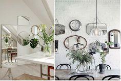 ¡Algunas ideas geniales para crear con espejos en la pared!¡Potenciá la luz de tu hogar! 😃💖🏡