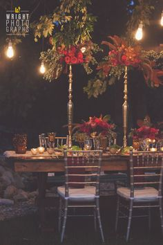 Edison Bulbs. Fall Weddings. Tablescapes. Wedding Florals. Pear Tree Estate
