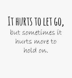 So true, however, I'll choose the minor pain any day than a lifetime of pain, suffering, regret, and resentment. #teamletGoandletGOD