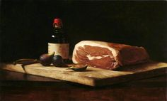 Figs and Prosciutto by Sarah Lamb Painting Still Life, Still Life Art, Sarah Lamb, Meat Art, Small Paintings, Oil Paintings, Apple My, Food Painting, Hyperrealism