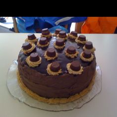 Epic Reese's peanut butter cup chocolate cake cheesecake