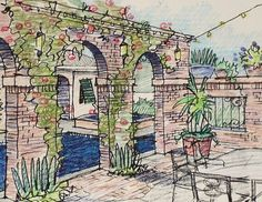 New Orleans style backyard courtyard by TexaScapes, via Flickr