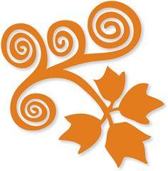 Silhouette Online Store - View Design #13949: leaf swirl flourish