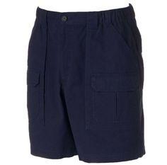9dca0761 Details about Navy Blue Cargo Shorts Side Elastic Large Mens 38 Waist x 7  Croft & Barrow NEW