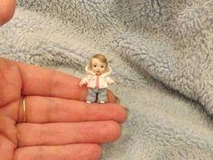 Miniature handmade MINI TOY BABY GIRL DOLLY TINY ART DOLL ooak.karens-mini-bears
