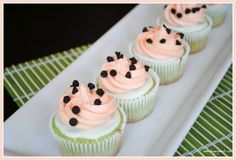 Watermelon cupcakes @Shugary Sweets