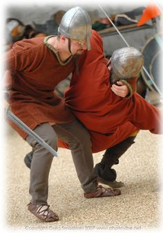 Wychwood Warriors (Oxford University Re-enactment Society) show off some fighting mettle.