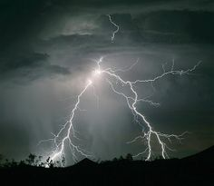 A dramatic burst of lightning near the town of Searchlight, Nev., on June 8, 2006.