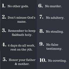 Ten Commandments God 7, Ten Commandments, Day Work, You Are The Father, Christian Quotes, Names, Instagram Posts, Christianity Quotes
