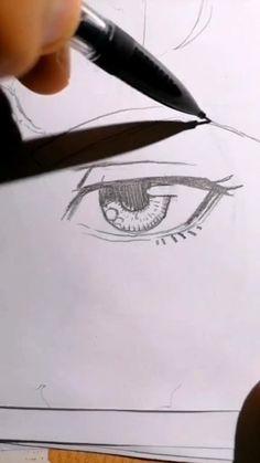 Simple manga eyes drawing