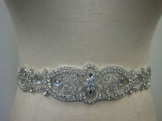 Wedding Belt, Bridal Belt, Sash Belt, Crystal Rhinestone - Style B199