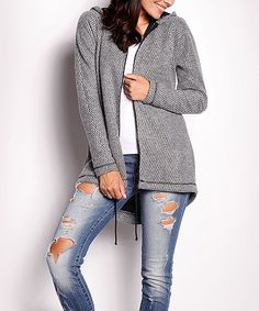 Love this Awama Gray Hooded Cardigan by Awama on #zulily! #zulilyfinds