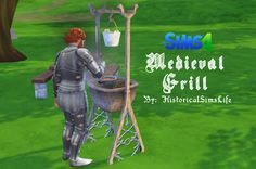 TS4: Early Civilization / Medieval Grill - History Lover's Sims Blog