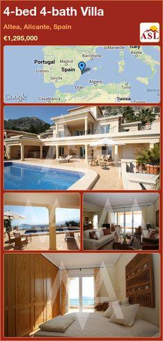 4-bed 4-bath Villa in Altea, Alicante, Spain ►€1,295,000 #PropertyForSaleInSpain