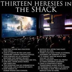 Heresies in The Shack - The Shack a book by William Paul Young turned into a movie. It is loaded with heretical doctrines that goes against the Word of God. Christian Apologetics, Christian Movies, Christian Life, Christian Apps, Christian Messages, Soli Deo Gloria, Word Of God, The Book, Christianity