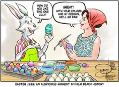 David Wilson of the Palm Beach Daily News--Lilly Pulitzer and Easter.