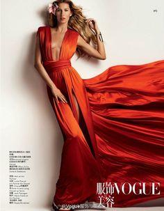Gisele Bündchen por Mario Testino para Vogue China Março 2015 [Editorial]