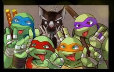 TMNT Forever --- omg, look at splinter, he looks like, so concerned about it. 'How do I look?! Do I look ok!? Can they see me?!' XD