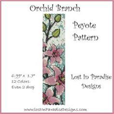 Orchid Branch Peyote Bracelet Pattern
