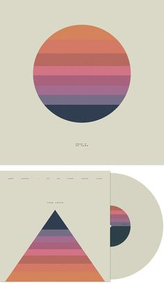 Abstract yet simple cd album cover and disk design // by previous pinner: Limited Edition Beige Vinyl Front