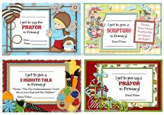 2012 LDS Primary Sharing Time Printables - - WHOA, those are adorable! They make me want to give a talk in primary!