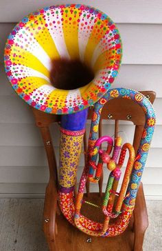 Celebrate your uniqueness and toot your own horn....or paint it, if you will