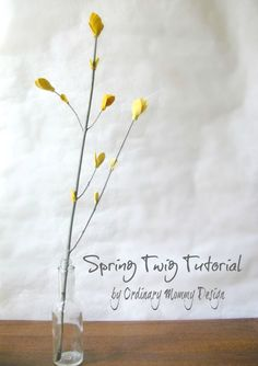 Sweet felt blossoms to decorate for Spring! //ORDINARY MOMMY DESIGN: DIY Spring Twig with Felt Blossoms