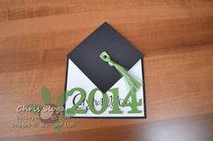 Graduation Cap Fun Fold using Sassy Salutations - Stampin' Up!