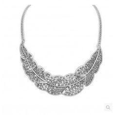 ZOSHI Vintage Leaf Pendats Statement Necklace For Woman